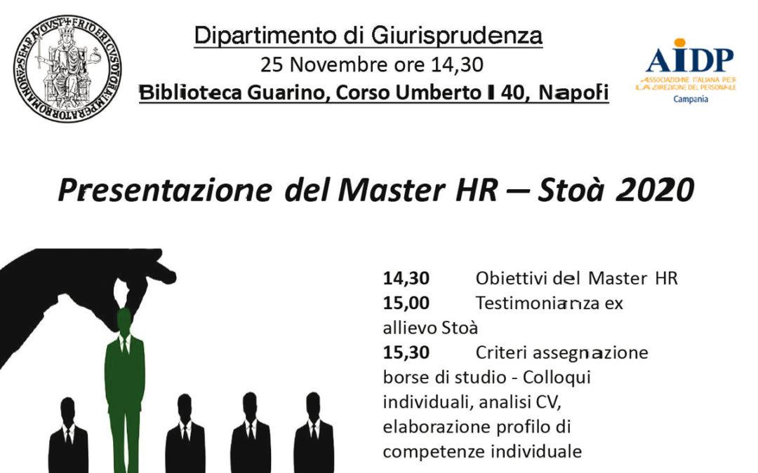 Presentazione del Master HR – Stoà 2020